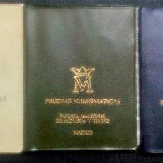 Monedas Juan Carlos I: LOTE PRUEBAS NUMISMÁTICAS DE F.N.M.T. DE JUAN CARLOS I - JUEGOS OFICIALES- 3 CARTERAS DIFERENTES. Lote 213470511