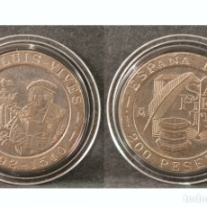 Monedas Juan Carlos I: 200 PESETAS JUAN CARLOS I 1993 JUAN LUIS VIVES SIN CIRCULAR. Lote 49035426