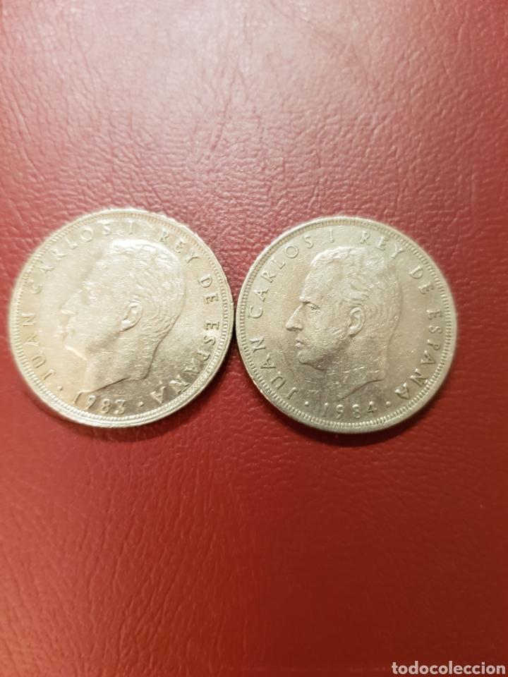 DOS MONEDAS 25 PESETAS 1983 Y1984 REY JUAN CARLOS. BEC (Numismática - España Modernas y Contemporáneas - Juan Carlos I)