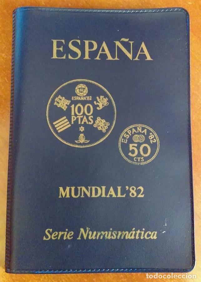 CARTERA MONEDAS SERIE MUNDIAL 82 AÑO 1980 ,ESTRELLA 1980 (Numismática - España Modernas y Contemporáneas - Juan Carlos I)