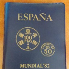 Monedas Juan Carlos I: CARTERA MONEDAS SERIE MUNDIAL 82 AÑO 1980 ,ESTRELLA 1980. Lote 117288519