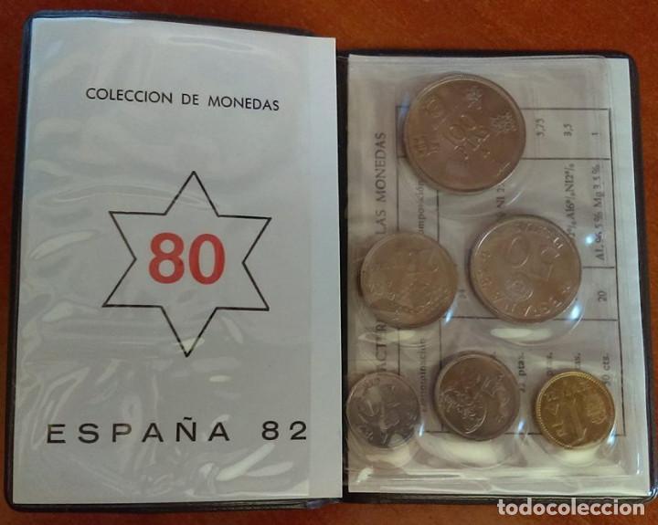 Monedas Juan Carlos I: CARTERA MONEDAS SERIE MUNDIAL 82 AÑO 1980 ,ESTRELLA 1980 - Foto 2 - 117288519
