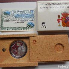 Monedas Juan Carlos I: 1000 PESETAS PLATA 1998 XX ANIVERSARIO CONSTITUCIÓN PROOF. Lote 117371859