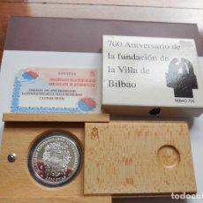 Monedas Juan Carlos I: 2000 PESETAS PLATA AÑO 2000. 700 ANIVERSARIO DE LA FUNDACIÓN DE BILBAO. Lote 117380139