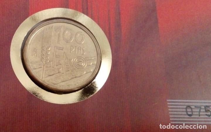 Monedas Juan Carlos I: BONITA MONEDA DE 100 PESETAS 1985 Y SELLO REY JUAN CARLOS I EN CARTA NUMISMATICA EDICION LIMITADA - Foto 2 - 117400583