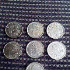 Monedas Juan Carlos I: 5 PESETAS REY JUAN CARLOS LOTE DE 7.MONEDAS. Lote 118170979
