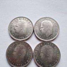 Monedas Juan Carlos I: 4 MONEDAS DE 100 PESETAS JUAN CARLOS I 1975 (76). Lote 118781872