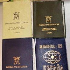 Monedas Juan Carlos I: LOTE 4 CARTERAS DE JUAN CARLOS I -COMPLETAS OFICIALES PRUEBAS EN PESETAS(3) + AÑO 1980 MUNDIAL 82. Lote 170966258