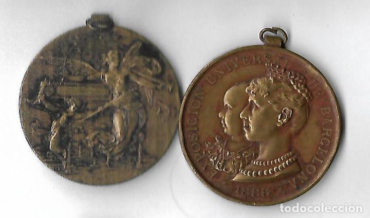 MEDALLA EXPOSICION UNIVERSAL DE BARCELONA 1888 (Numismática - España Modernas y Contemporáneas - Juan Carlos I)