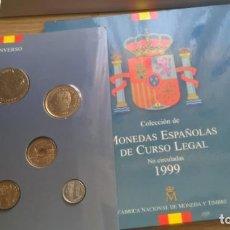 Monedas Juan Carlos I: JUAN CARLOS I - COLECCIÓN DE MONEDAS ESPAÑOLAS DE CURSO LEGAL 1999. Lote 121514851
