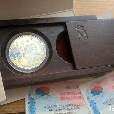 Monnaies Juan Carlos I: 2000 PESETAS DE PLATA EN ESTUCHE DEL AÑO 2000. JUAN CARLOS I. XXV ANIVERSARIO PROCLAMACIÓN. Lote 232377275