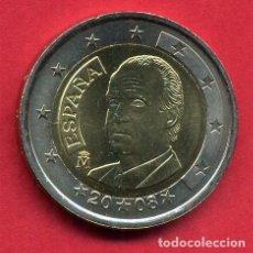 Monedas Juan Carlos I: MONEDA DE 2 EUROS ESPAÑA 2008 REY JUAN CARLOS I NUEVA DE CARTUCHO, ORIGINAL. Lote 266841314