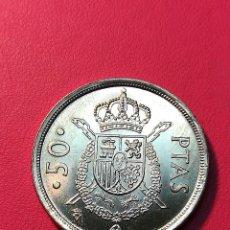 Monedas Juan Carlos I: 50 PESETAS 1982 S/C SACADA DE CARTUCHO DE LA FNMT. Lote 124569327