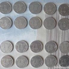 Monedas Juan Carlos I: 20 MONEDAS DE 2 PTAS. AÑOS 1982 Y 1984. Lote 124627959