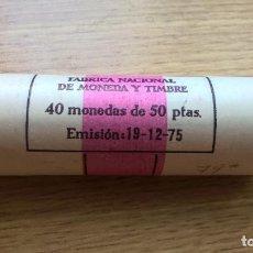 Monedas Juan Carlos I: CARTUCHO FMNT DE 40 MONEDAS DE 50 PESETAS DE 1975 ESTRELLA 79. SC. Lote 125958243