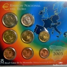 Monedas Juan Carlos I: ESPAÑA CARTERA OFICIAL -BLISTER- F.N.M.T. AÑO 2003 *EMISION OFICIAL DEL EURO*. Lote 172940319
