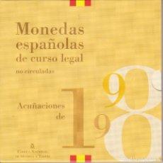 Monedas Juan Carlos I: CARTERA OFICIAL DE ESPAÑA DEL AÑO 1998 CON 8 MONEDAS EN PESETAS EN SU ESTUCHE ORIGINAL. Lote 126819047
