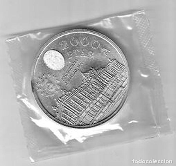 Monedas Juan Carlos I: Moneda de plata 2000 pesetas año 1995 SC - Foto 2 - 127525795