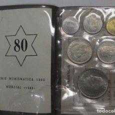 Monedas Juan Carlos I: 6 MONEDAS SERIE NUMISMÁTICA 1980, ESPECIAL MUNDIAL 82. Lote 128644583