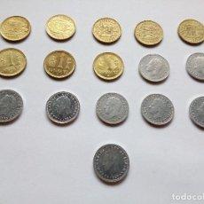 Monedas Juan Carlos I: UNA PESETA, 1 PESETA JUAN CARLOS I, FORMATO GRANDE, AÑOS 1976 AL 1989, LOTE DE 16 MONEDAS. Lote 129741943