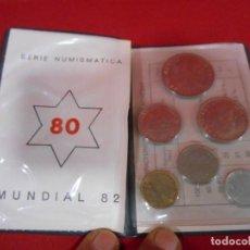Monedas Juan Carlos I: CARTERA AZUL PRUEBAS NUMISMÁTICAS JUAN CARLOS I 1980 MUNDIAL ESPAÑA 82 FNMT FÁBRICA NACIONAL MONEDA. Lote 129996851