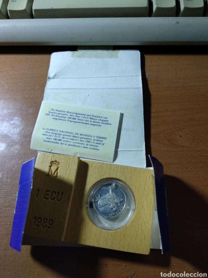 1 ECU PLATA 1989 EUROPA (Numismática - España Modernas y Contemporáneas - Juan Carlos I)