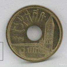Monedas Juan Carlos I: MONEDA JUAN CARLOS I - 25 PESETAS 1995 / VARIANTE CASTILLA LEÓN SIN LA Y - CONSERVACIÓN MBC. Lote 131224456