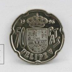 Monedas Juan Carlos I: MONEDA JUAN CARLOS I - 50 PESETAS 1996 / REMARCADA - MADRID - CONSERVACIÓN SC. Lote 131233188