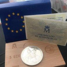 Monedas Juan Carlos I: ESPAÑA 5 ECU 1989 (PLATA) S/C FUNDA,ESTUCHE Y CERTIFICADO GARANTIA.. Lote 131934406