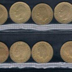 Monedas Juan Carlos I: 12 MONEDAS DE ESPAÑA RUBIAS DE JUAN CARLOS I. Lote 135167658