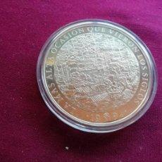 Monedas Juan Carlos I: 25 ECU DE PLATA PESO TOTAL 168,75 GRS.CERVANTES-DON QUIJOTE 1994. CINCUENTÍN. ENCAPSULADA. Lote 135668699