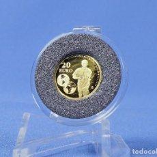 Monedas Juan Carlos I: ESPAÑA 20 EUROS 2010 FUTBOL 1´24 GR ORO 999MM. Lote 135888918