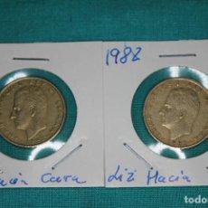 Monedas Juan Carlos I: ESPAÑA DOS MONEDAS 100 PESETAS JUAN CARLOS I AÑO 1982 FLOR DE LIS ANVERSO Y REVERSO. Lote 136224922