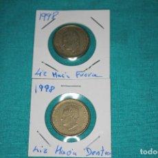 Monedas Juan Carlos I: ESPAÑA DOS MONEDAS 100 PESETAS JUAN CARLOS I AÑO 1998 FLOR DE LIS ANVERSO Y REVERSO. Lote 136225270