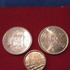 Monedas Juan Carlos I: LOTE LUJO MONEDAS 100 PTAS JUAN CARLOS I S/C. LEER DESCRIPCIÓN. Lote 136526706