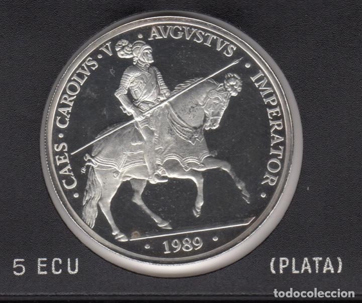 1989 5 ECU PLATA 33,62 GR SC (Numismática - España Modernas y Contemporáneas - Juan Carlos I)