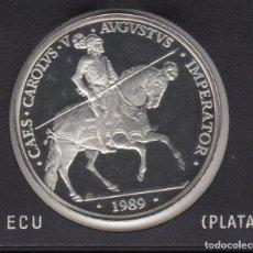 Monedas Juan Carlos I: 1989 5 ECU PLATA 33,62 GR SC. Lote 138354682