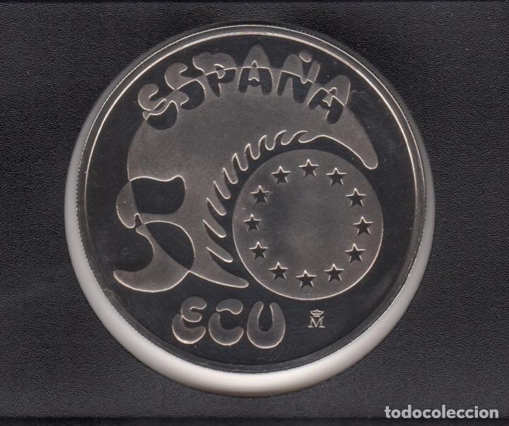 Monedas Juan Carlos I: 1989 5 ECU Plata 33,62 gr SC - Foto 2 - 138354682