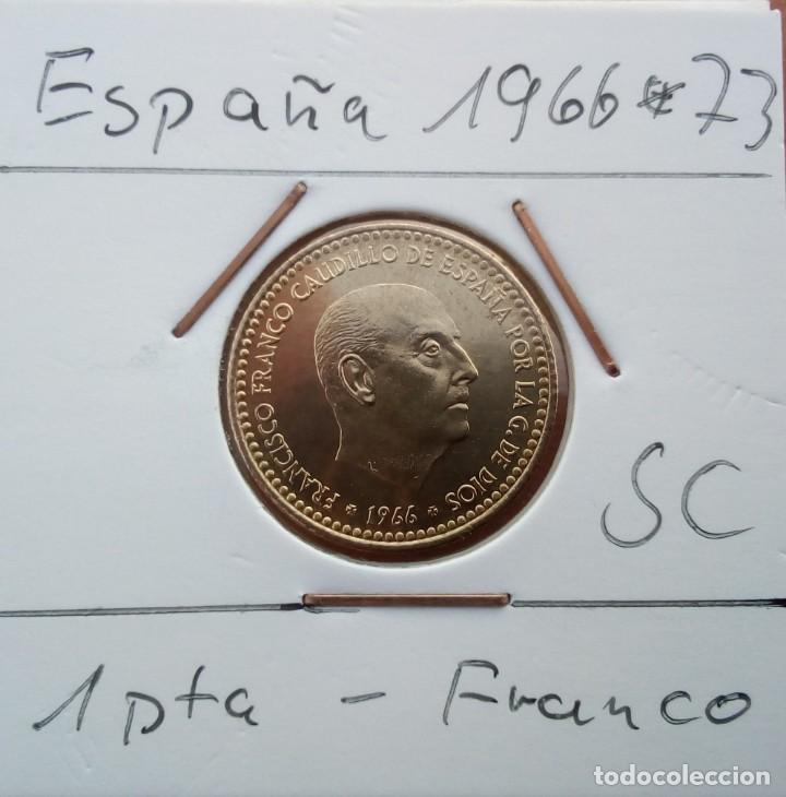 Monedas Juan Carlos I: ESPAÑA - 1 PESETA 1966 * 73 - ENCARTONADA - S / C - SACADA DE CARTUCHO - VISTA MIS OTROS LOTES - Foto 3 - 138660242