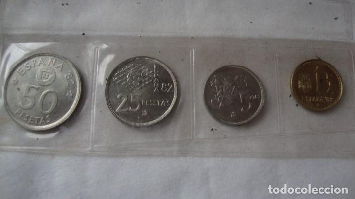 TIRA MONEDAS ESPAÑA MUNDIAL 80 AÑO 1980/81 MUY BUENAS (Numismática - España Modernas y Contemporáneas - Juan Carlos I)