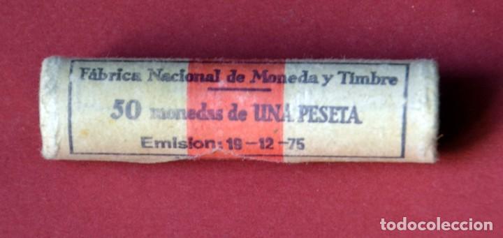 CARTUCHO FNMT DE 50 MONEDAS DE 1 PESETA 1975 JUAN CARLOS I.SIN CIRCULAR (Numismática - España Modernas y Contemporáneas - Juan Carlos I)