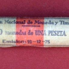 Monedas Juan Carlos I: CARTUCHO FNMT DE 50 MONEDAS DE 1 PESETA 1975 JUAN CARLOS I.SIN CIRCULAR. Lote 140432030