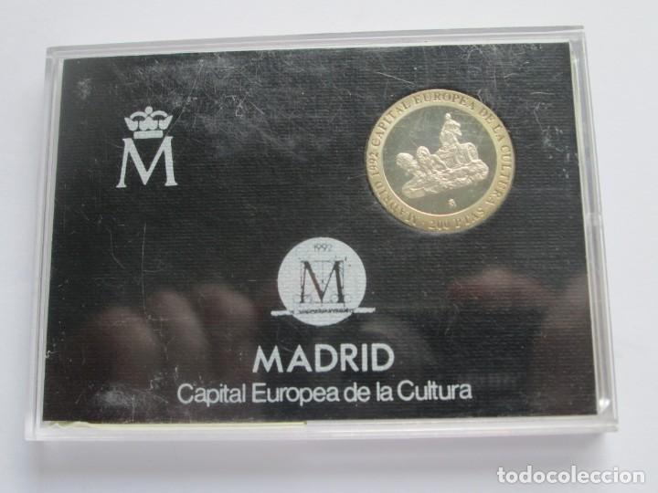 JUAN CARLOS I * 200 PESETAS 1992 * MADRID CAPITAL EUROPEA DE LA CULTURA * PLATA ** TIN (Numismática - España Modernas y Contemporáneas - Juan Carlos I)
