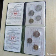 Monedas Juan Carlos I: DOS CARPETAS DE PRUEBAS NUMISMÁTICAS DE 1977 Y 1979. Lote 141676970