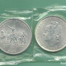 Monedas Juan Carlos I: PLATA-ESPAÑA 2000 PESETAS 1997. EL QUIJOTE. Lote 142807824