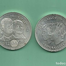 Monedas Juan Carlos I: PLATA-ESPAÑA: 12 EUROS 2004. BODA REAL FELIPE/LETICIA. Lote 142802013