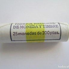Monedas Juan Carlos I: JUAN CARLOS I * 200 PESETAS 1986 * CARTUCHO FNMT CON 25 MONEDAS. Lote 142352130