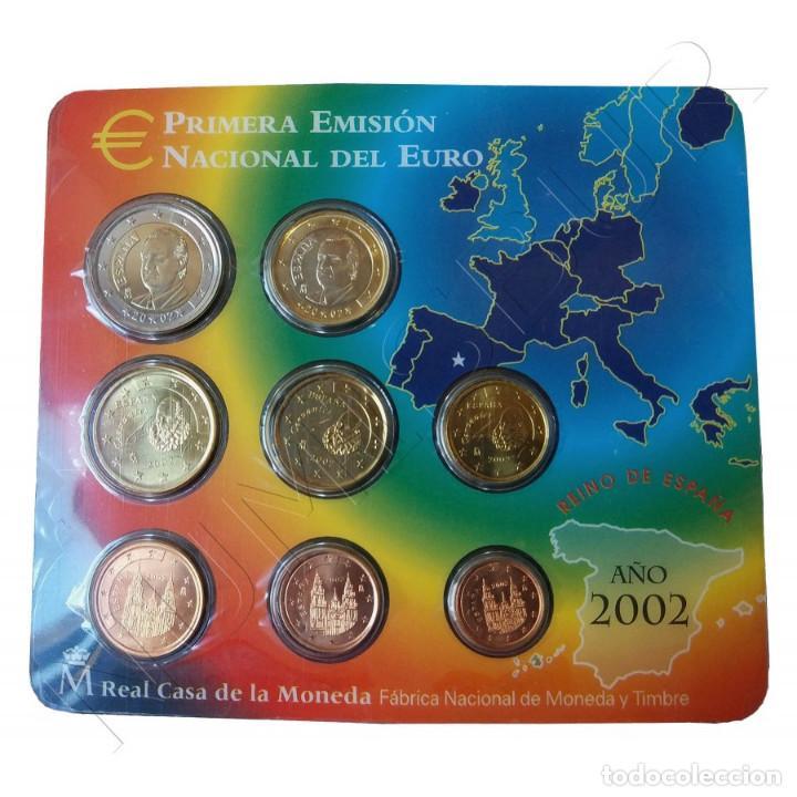 EURO SET CON LOS EUROS DE ESPAÑA 2002 FNMT PRIMERA EMISIÓN NACIONAL DEL EURO (Numismática - España Modernas y Contemporáneas - Juan Carlos I)