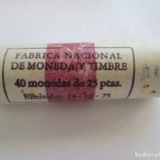 Monedas Juan Carlos I: JUAN CARLOS I * 25 PESETAS 1980*81 * CARTUCHO CON 40 MONEDAS. Lote 143062310