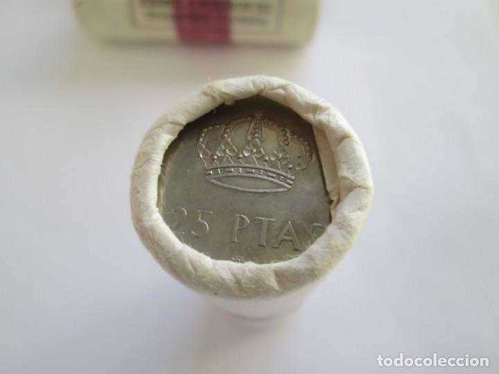 Monedas Juan Carlos I: JUAN CARLOS I * 25 PESETAS 1983 * CARTUCHO CON 40 MONEDAS - Foto 3 - 143062666